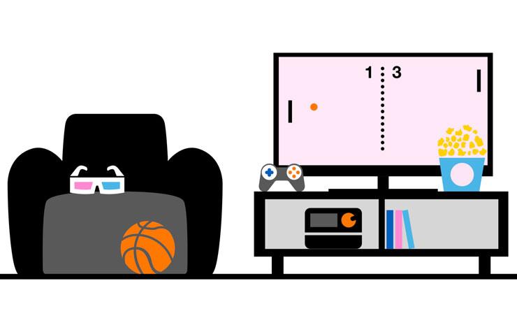 illustration of multimedia room
