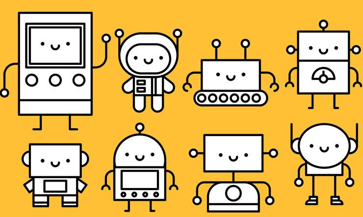 Illustrations de robots